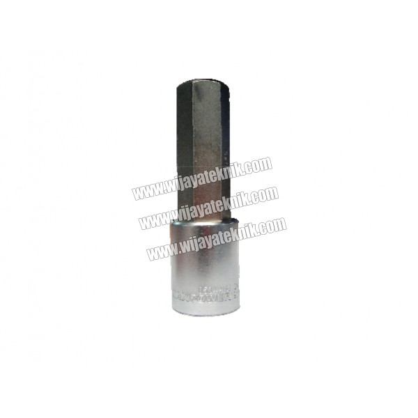 "1/2"" Drive Bit Socket Deep Hexagon H-3 MAXPOWER"